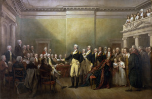 General George Washington Resigning his Commission by John Trumbull (public domain)